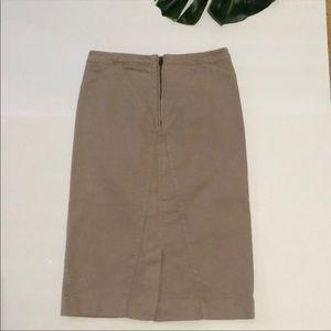 Just Cavalli Denim Tan Pencil Skirt Size 2